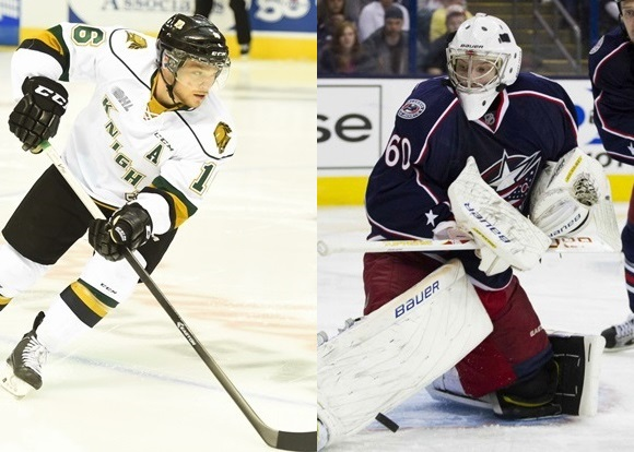Max Domi - London Knights; Oscar Dansk - Columbus Blue Jackets