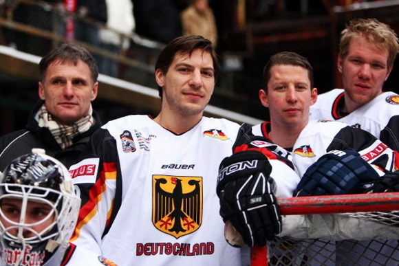 Ernst Hofner and Team Germany players