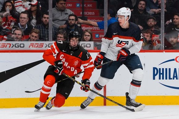 Connor McDavid - Team Canada; Brandon Carlo - Team USA