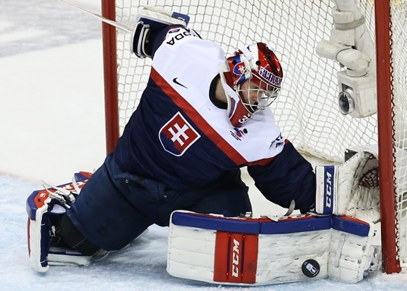 Denis Godla - Team Slovakia - 2015 IIHF World Junior Championship hockey