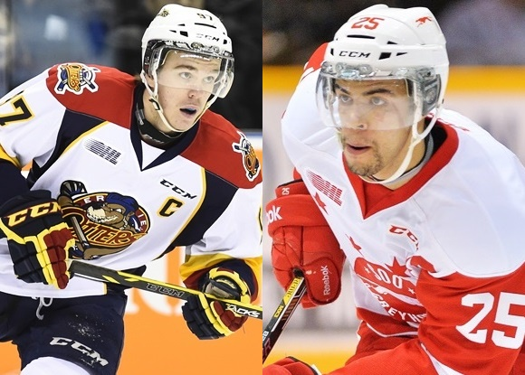 Connor McDavid - Erie Otters; Darnell Nurse - Sault Ste. Marie Greyhounds: Prospect Faceoff 2/6/15