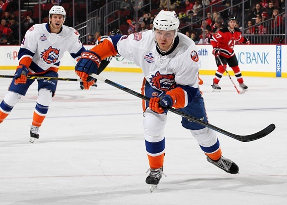Photo: 21-year-old defenseman Griffin Reinhart will offer immediate help to the Oiler blueline. (Image courtesy of Christopher Pasatieri/Getty Images)