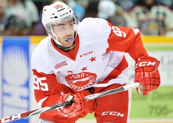 Justin Bailey has scored 12 goals and 14 assists in 20 games since being traded to the Soo Greyhounds at the trade deadline.