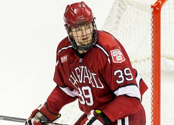 Photo: Brian Hart is enjoying a solid junior year with Harvard University. (Courtesy of Richard T. Gagnon/Getty Images)