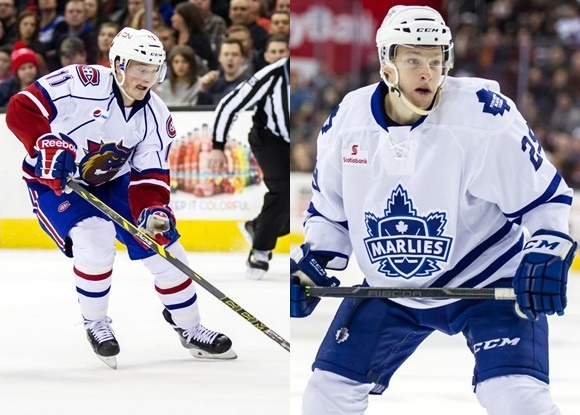 Daniel Carr - Hamilton Bulldogs; Connor Brown - Toronto Marlies - Prospect Faceoff