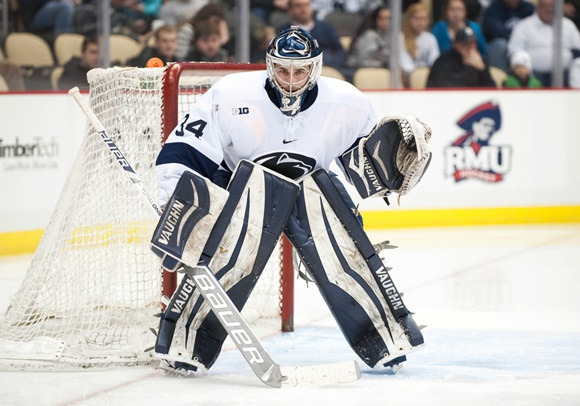 Photo: Eamon McAdam has shown a drastic improvement in his second season with the Nittany Lions (Courtesy of Justin Berl/Icon Sportswire)