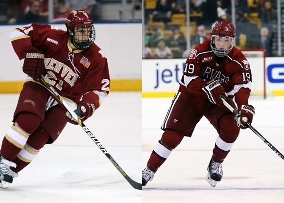 Joey Laleggia - University of Denver; Jimmy Vesey - Harvard University - 2015 NCAA Tournament - East & Midwest Regionals