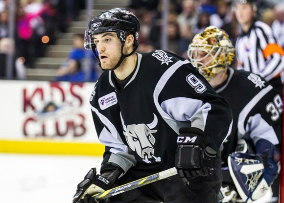 Photo: Rocco Grimaldi has scored 35 points in 51 games for the Rampage in his rookie season as a professional hockey player (Courtesy of Frank Jansky/Icon Sportswire)