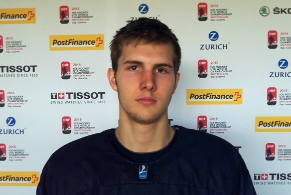 Brenden Warren - Team USA - 2015 IIHF Ice Hockey U18 World Championship