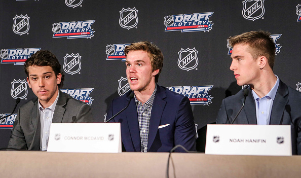 Dylan Strome, Connor McDavid, Noah Hanifin - 2015 NHL Draft Lottery