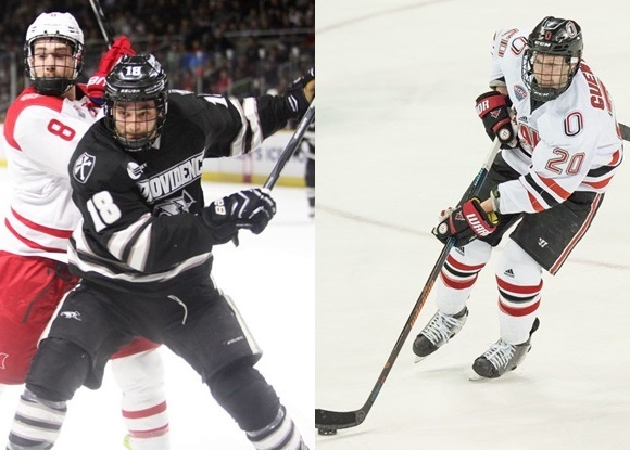 Nick Saracino - Providence College; Jake Guentzel - University of Nebraska-Omaha - 2015 Frozen Four Semi-final