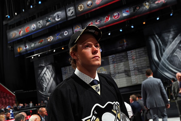 Photo: Daniel Sprong scored 88 points (39 goals, 49 assists) in 68 games for the Charlottetown Islanders in 2014-15. (Courtesy of Bruce Bennett/Getty Images)