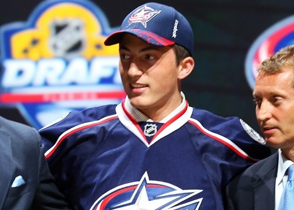 Photo: Columbus Blue Jackets pick Zach Werenski was one of Team USA' s best defensemen in the 2015 IIHF World Junior Championship (courtesy of Bruce Bennett/Getty Images)