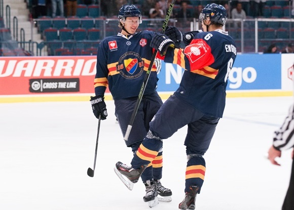Adam Ollas Mattsson and Andreas Englund - Djurgarden Stockholm - Champions Hockey League