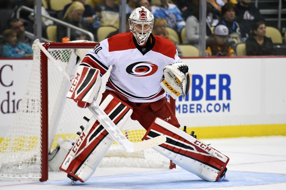 Photo: After a stellar NCAA career with Merrimack College, Rasmus Tirronen began the 2015-16 season as the back-up goaltender for the Charlotte Checkers. (Courtesy of Jeanine Leech/Icon Sportswire)