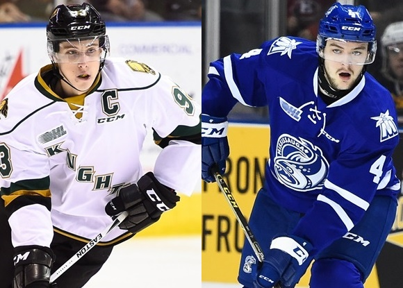 Mitchell Marner - London Knights; Sean Day - Mississauga Steelheads - Prospect Faceoff for 11/18/15