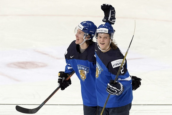 Sami Niku and Antti Kalapudas - Team Finland - 2016 IIHF World Junior Championship