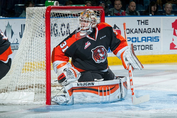 Tigers' Schneider leads short list of WHL goaltenders with NHL ties